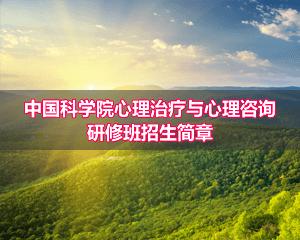中国科学院心理研究所心理治疗与心理咨询专业课程研修班招生简章