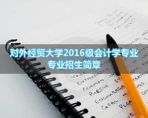 对外经贸大学武汉班会计学专业