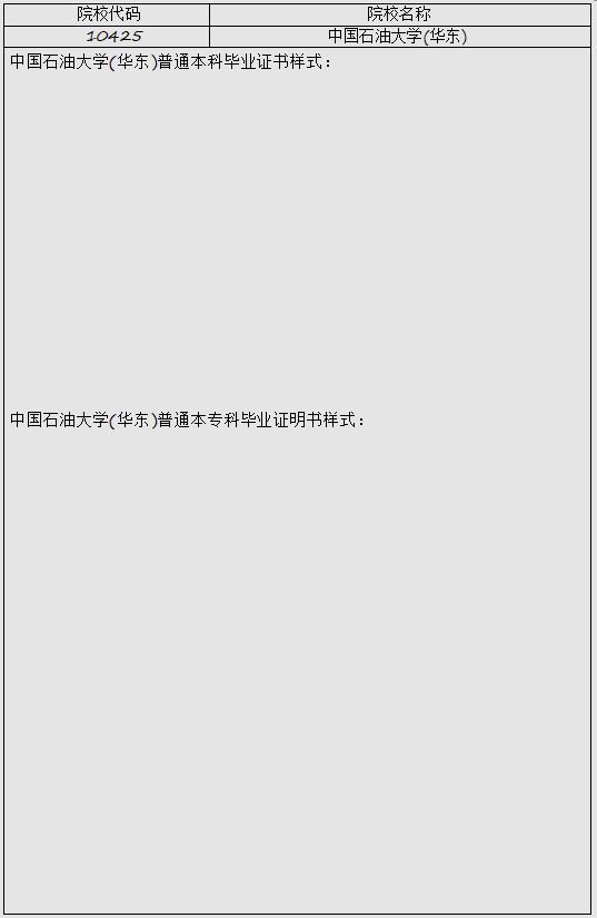 【在职研究生常识】中国石油大学(华东)高等教育学历证书样式都有哪些?