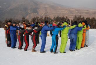 山东大学组织在职研究生期末冬季拓展训练